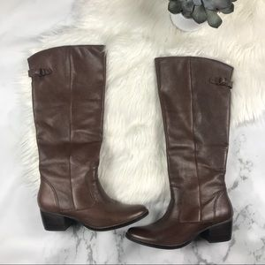 Matisse Tundra Tall Boot Pebbled Leather Brown